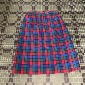 Vintage John Meyer Jewel Tone Plaid Skirt